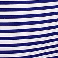 Work Dresses: Navy/White Beige by ECI Ottoman Stripe Dress