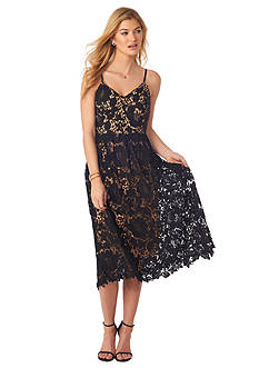 Beige by ECI Lace Spaghetti Strap Dress