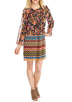Beige by ECI Floral Printed Shift Dress