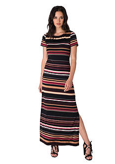 Beige by ECI Striped Maxi Dress