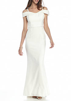 SCARLETT Cold-Shoulder Gown