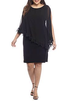 SCARLETT Plus Size Capelet Overlay Dress