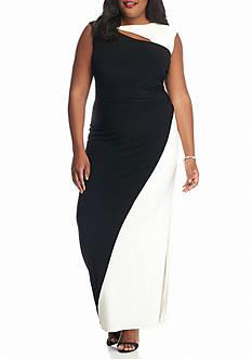 SCARLETT Plus Size Colorblock Jersey Gown