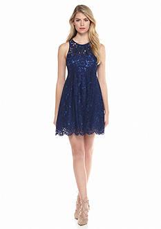 Blithe™ Illusion Neckline Lace Dress