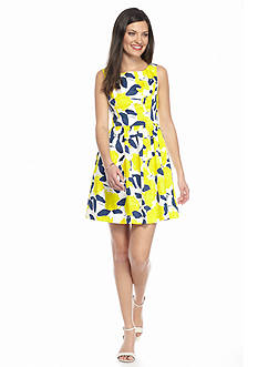 Blithe™ Floral Printed Fit and Flare Dress