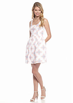 Blithe™ Printed Fit and Flare Dress