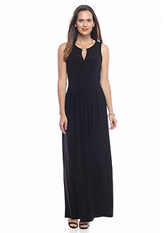 Donna Ricco New York Keyhole Neck Maxi Dress