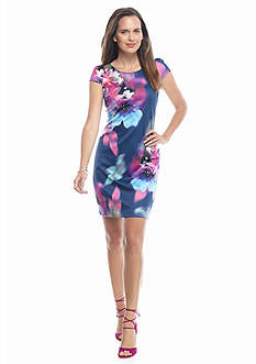 Donna Ricco New York Floral Printed Sheath Dress