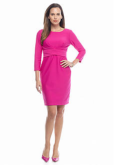 Donna Ricco New York Crisscross Waistband Sheath Dress