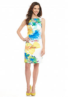 Donna Ricco New York Printed Pique Sheath Dress