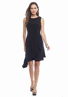 Donna Ricco New York Asymmetrical Hem Wrap Dress