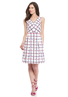 Donna Ricco New York Printed Fit and Flare Dress