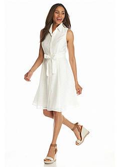 Donna Ricco New York Striped Shirt Dress