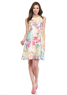 Donna Ricco New York Floral Printed Trapeze Dress