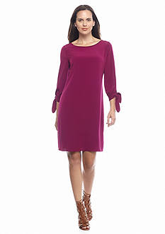 Donna Ricco New York Tie Cuff Sleeve Shift Dress