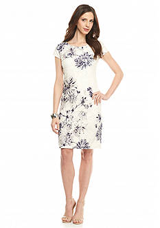 Donna Ricco New York Floral Printed Lace Shift Dress