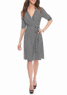 Donna Ricco New York Printed Wrap Dress