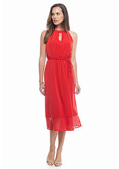 Donna Ricco New York Keyhole Neck Dress