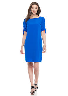 Donna Ricco New York Bow-Sleeve Shift Dress