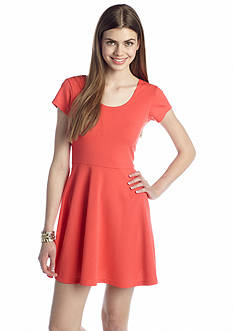 Derek Heart Textured Skater Dress