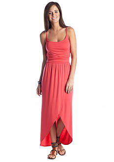Derek Heart Tulip Front Maxi Dress