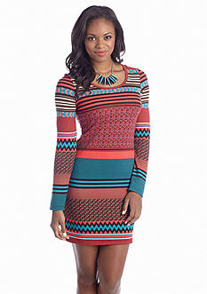 Derek Heart Tribal Sweater Knit Dress