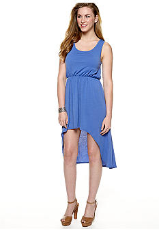 Derek Heart Sleeveless Open Back High Low Dress
