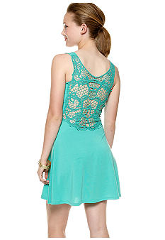 Derek Heart Crochet Back Dress
