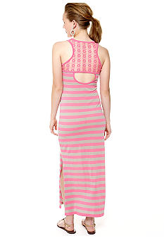 Derek Heart Sleeveless Crochet Back Maxi Dress