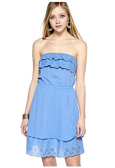 Derek Heart Strapless Eyelet Trim
