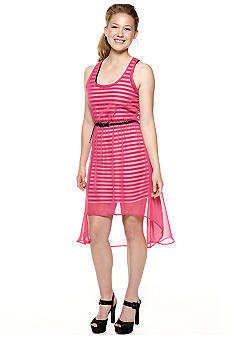 Derek Heart Sleeveless Stripe High Low Tank Dress