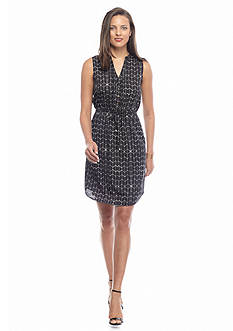 IVANKA TRUMP Printed Shirt Dress