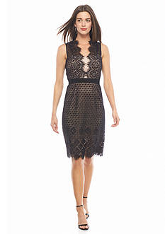 IVANKA TRUMP Lace Sheath Dress