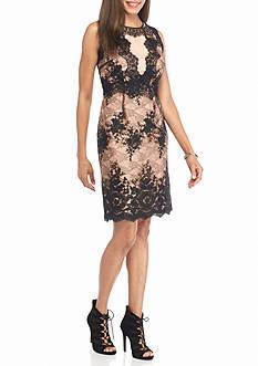 IVANKA TRUMP Floral Lace Sheath Dress