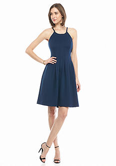 IVANKA TRUMP Halter Fit and Flare Dress