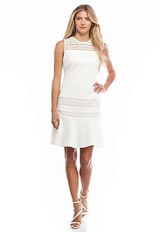 IVANKA TRUMP Textured Knit Dress
