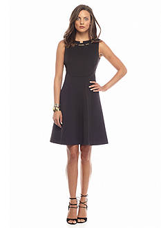 IVANKA TRUMP Scuba Fit and Flare Dress