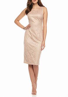 IVANKA TRUMP Lace Midi Sheath Dress
