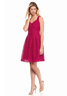 IVANKA TRUMP Sleeveless Fit and Flare Dress
