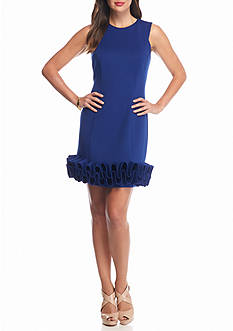 maia Ruffle Hem Sheath Dress