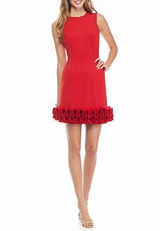 maia Ruffle Hem Sheath Dress