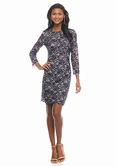 maia Double Lace Sheath Dress