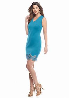 maia Crochet Trim Sheath Dress