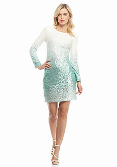 maia Ombre Sequin Sheath Dress