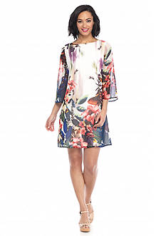 maia Floral Printed Shift Dress