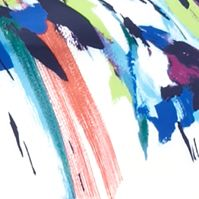 Bright Colored Dresses: Ivory Multi maia Splatter Printed Sheath Dress