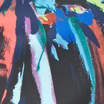 Bright Colored Dresses: Black Multi maia Splatter Printed Sheath Dress