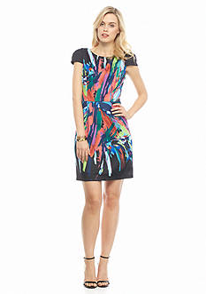 maia Splatter Printed Sheath Dress