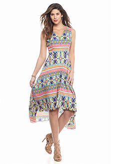 maia Printed High Low Hem Maxi Dress