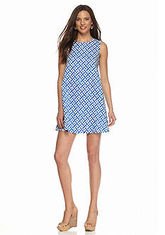 maia Printed Trapeze Dress